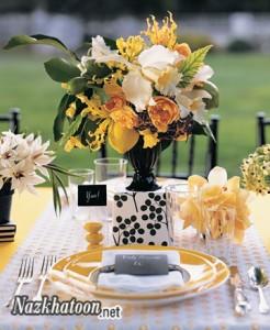 انواع تزیین میز غذاخوری – 1