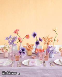انواع تزیین میز غذاخوری – 2