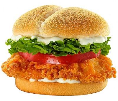 مرغ برگر خانگی
