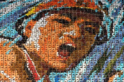 هنرنمایی 100 هزار نفری در کره شمالی