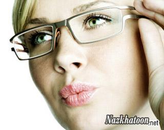آرایش چشم با عینک